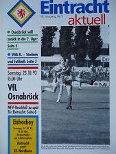 Programm 1993/94 Eintracht Braunschweig - VfL Osnabrück