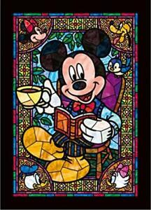 266 Piece Jigsaw Puzzle Disney Mickey Mouse Stained Art Series (Plastic) Japan*