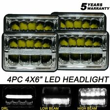 4x 4x6 LED Headlight DRL Sedled Beam H4651 H4656 For Oldsmobile Mercury Frod LTD
