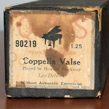 QRS Piano Roll 90219 Delibes' Coppelia Valse Played by Howard Brockway