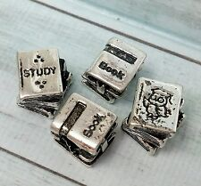 2 Wise Owl Study Textbooks + 2 Stacked Love Reading Books European Beads Charms