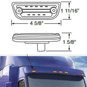 Peterbilt 579 & Kenworth T680, T770, T880 Rectangular Cab Light - Clear/Amber