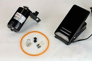 FW Sewing Machine Motor Kit with Foot Pedal & Belt - 110 Volt, 100 Watt for Impo