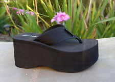 NEW Women's Platform T-Strap Sandals High Wedge Thick Flip Flops Casual- *1088