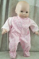 """Doll Clothes Baby Made 2 Fit American Girl 15"""" inch Bitty Pajamas Pink Stars"""