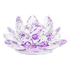 Crystal Lotus Flower with Gift Box, Clear, 4 Inch / 105mm, Lotus Core Inside, as