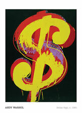 ANDY WARHOL - Dollar Sign, 1981 $ POP ART PRINT Offset Lithograph Poster 36x24