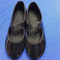 American Ballet Theatre Shoes Child Size 8 Black Tap Dancing