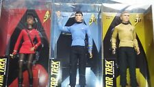 Barbie STAR TREK 50th Anniversary Dolls Set of 3 CAPTAIN KIRK SPOCK UHURA NEW
