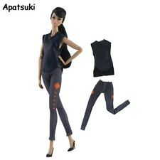 1set Fashion Vest & Trousers Pants For Barbie Doll Outfits Fashion Doll Clothes