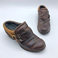 Merrell Shiloh Women Brown Leather Slip On Shoe Size 6 EUR 36 Pre Owned