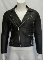 Classic Diamond Motorcycle Biker Black Distressed Vintage real Leather Jacket