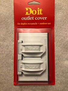 Bell WHITE Aluminum Weatherproof Outdoor Duplex Outlet Cover 524417