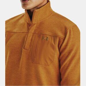 Under Armour Cold Gear Men's XXL Yellow Ochre Specialist Grid Henley Sweater NWT