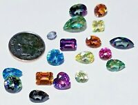 Mystic Topaz Beautiful Colors Shapes Faceted loose Natural Gemstones Lots