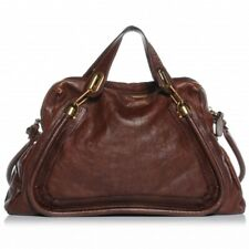 CHLOE LARGE PARATY Handbag, Chocolate, Calfskin, Authentic, Excellent Condition