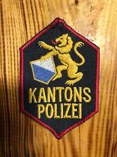 SWISS SWITZERLAND PATCH POLICE POLIZEI CANTON ZURICH - ORIGINAL!