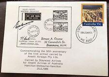 1986 33c pse commem 50th anniversary of 1st airmail by ansett