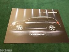 MINT AUG 2005 PONTIAC TORRENT ACCESSORIES FLYER / REFERENCE CARD (BOX 710)