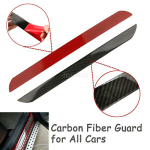 4x 60+25cm Carbon Fiber Car Styling Scuff Plate Door Sill Covers Panel Protector