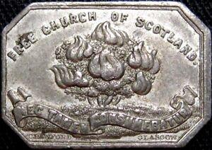1843 Glasgow Lanarkshire Scotland Communion Token Burz 2874 Burning Bush