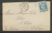 1876 Env. N°60 Obl GC2255 CAD T16 LE MAS-D'AGENAIS (45) LOT ET GARONNE X3375