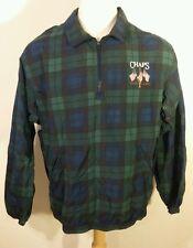 Vintage 90's Plaid Chaps Ralph Lauren Windbreaker Golf Pullover Fleece Jacket L