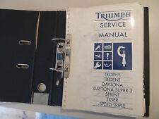 Service manual Werkstatthandbuch Triumph Trophy Trident Daytona Tiger 1991-1993