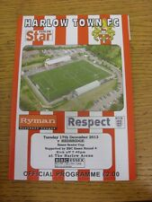 17/12/2013 Harlow Town v Redbridge [Essex Senior Cup] . Thanks for viewing this