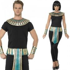 Unisex Egyptian Kit Costume Gold Collar Cuffs Belt Set Fancy Dress Outfit