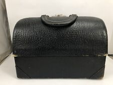 ANTIQUE SCHELL DOCTOR'S BAG Genuine TEXTURED LEATHER Physician Medical Case