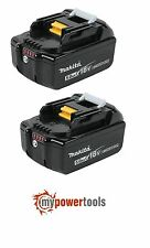 2X MAKITA BL1850B 5.0AH 18V LXT LI-ION BATTERY WITH BATTERY INDICATOR   BL1850