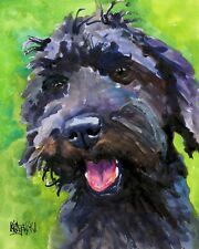 Schnoodle Art Print from Painting   Gifts, Poster, Picture, Wall Art, Mom, 8x10