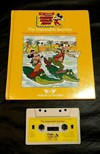 TALKING MICKEY MOUSE THE IMPOSSIBLE JOURNEY BOOK/TAPE WORLDS OF WONDER HC
