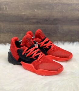 Adidas Harden Vol. 4 Basketball Shoes Men's Size 7 Red EF0999 Women's Size 8