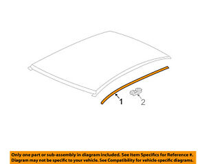Chevrolet GM OEM 12-16 Sonic-Roof Molding Trim Right 96878542