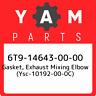 6T9-14643-00-00 Yamaha Gasket, exhaust mixing elbow (ysc-10192-00-0c) 6T91464300
