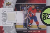 Larry Robinson 2013-14 UD Series One Game Jersey Montreal Canadiens GJ-LR