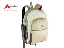 Pure Hemp Travel backpack Multi Pockets laptop Sleeve Fashionable Made in Nepal