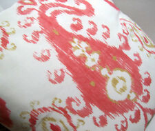 Pottery Barn Outdoor Warm Colors Mia Ikat Chair Bench Toss Pillow New