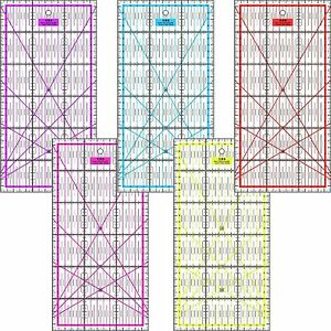 Patchwork Lineal Zentimeterraster viele Farben bunt