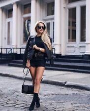 Zara AW17 Black Leather Motorcycle Jacket Size S NWT