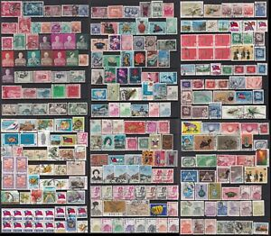 Taiwan Stamp 1950-70s 6 pages of used stamps, mixed conditions