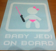 STAR WARS  BABY GIRL JEDI ON BOARD VINYL DECAL STICKER    CAR  VAN  WINDOW