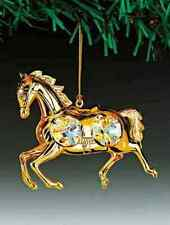 "SWAROVSKI CRYSTAL ELEMENTS ""Horse"" FIGURINE - ORNAMENT 24KT GOLD PLATED"