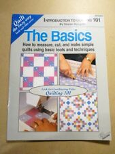 New listing Sharon Hultgren Introduction to Quilting 101 Booklet 28 Pages Softcover
