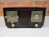 Vintage 1952 GE AM Clock Radio Model 535 Mid Century Very Good Condition