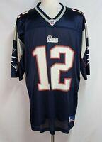 Tom Brady Mens XL #12 New England Patriots Reebok Mesh Football Jersey