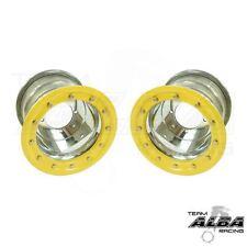 YFZ 450 YFZ 450R  Rear Wheels  Beadlock  8x8  3+5  4/115  Alba Racing  slvr/ylo