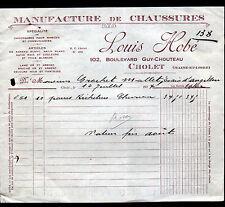 """CHOLET (49) USINE de CHAUSSURES """"Louis HOBE"""" en 1927"""